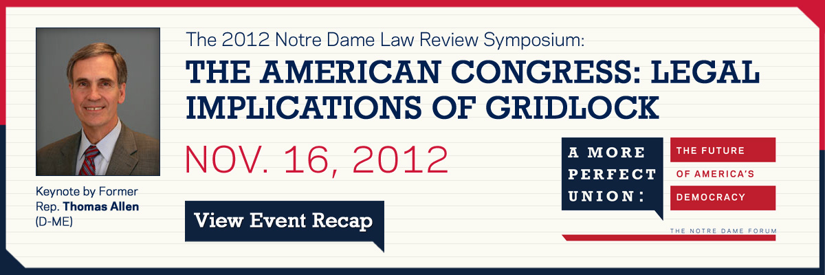 Event Recap for The American Congress: Legal Implications of Gridlock